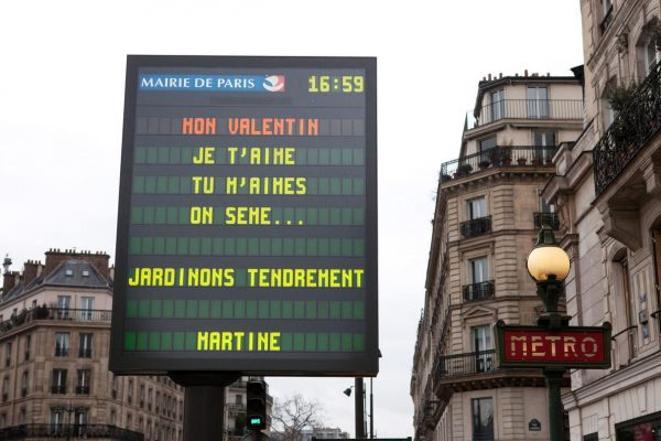 Pour la Saint-Valentin vos mots d'amour s'affichent gratuitement dans Paris