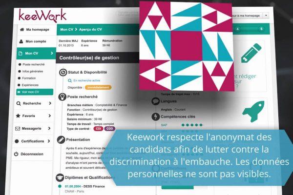 Trouver des offres d'emploi grâce à keework.com